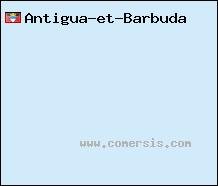 carte d'Antigua-et-Barbuda